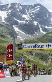 The Winner on Col du Lautaret - Tour de France 2014 — Stock Photo