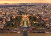 Trocadero at Sunset — Stock Photo