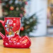 German Wine Christmas Cup in Shape of a Boot — Stock Photo #56704771
