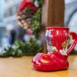 German Wine Christmas Cup in Shape of a Boot — Stock Photo #56704773