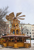 Wooden Christmas Carousel — Stock Photo