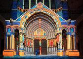 Chartres illumination — Stock Photo