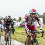 The Cyclist Joaquim Rodriguez on a Cobbled Road - Tour de France — Stock Photo #57464099