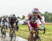 The Cyclist Joaquim Rodriguez on a Cobbled Road - Tour de France — Stock Photo