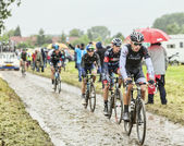 The Cyclist Danny van Poppel on a Cobbled Road - Tour de France  — Stock Photo