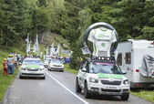 The Skoda Convoy During Le Tour de France 2014 — Stock Photo