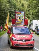 """""""Le Journal du Mickey"""" Car During Le Tour de France 2014 — Stock Photo"""