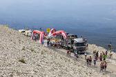 Milestone on Mont Ventoux- Tour de France 2013 — Stock Photo