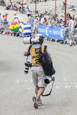 Photographer of Le Tour de France — Stock Photo