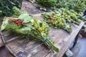 クリスマスの花束 — ストック写真
