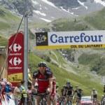 The Cyclist Amael Moinard on Col du Lautaret - Tour de France 2014 — Stock Photo #60580517
