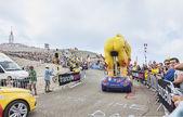 LCL Cyclist Mascot on Mont Ventoux - Tour de France 2013 — Stock Photo