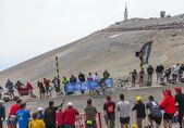 The Cyclist Thomas Voeckler Climbing Mont Ventoux — Stock Photo