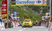 Mavic Car on Col du Lautaret — Stock Photo