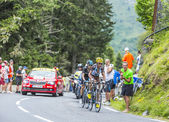 The Winners on Col du Tourmalet — Stock Photo