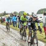 The Cyclist Michal Golas on a Cobbled Road - Tour de France 2014 — Stock Photo #67858251