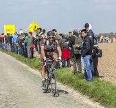 Damien Gaudin- Paris Roubaix 2014 — Stock Photo