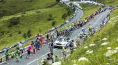 The Cyclist Tom Dumoulin on Col de Peyresourde - Tour de France  — Stock Photo