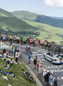 The Cyclist Tom Dumoulin on Col de Peyresourde - Tour de France — Stock Photo