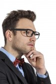 Profile of a Young Businessman — Stock Photo