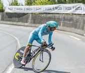 The Cyclist Michele Scarponi - Tour de France 2014 — Stock Photo