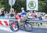 The Cyclist Sylvain Chavanel - Tour de France 2014 — Stock Photo
