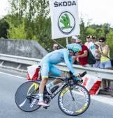 The Cyclist Jakob Fuglsang - Tour de France 2014 — Stock Photo