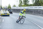 Rowerzysta michael rogers - tour de france 2014 — Zdjęcie stockowe