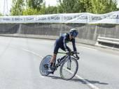 The Cyclist John Gadret- Tour de France 2014 — Stock Photo