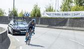 The Cyclist  Nieve Iturralde - Tour de France 2014 — Stock Photo