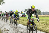 The Cyclist Matteo Tosatto on a Cobbled Road - Tour de France 20 — Stock Photo