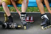 People ride on a skateboard — Stock Photo