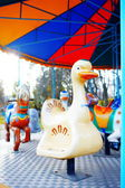 Children's carousel — Stock Photo