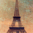 Old Eiffel Tower in retro style — Stock Photo #69128429