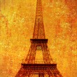 Old Eiffel Tower in retro style — Stock Photo #69133781