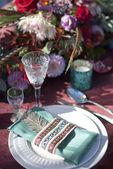 Wedding table setup — Stock Photo