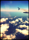 View of airplane wing — Stock Photo