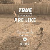 Inspirational Typographic Quote - True Friends — Foto de Stock