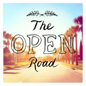 Inspirational Typographic Quote - The Open Road — Foto Stock