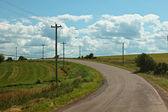 Old road in the country side — Stock Photo