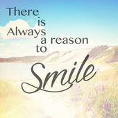 Text there is always a reason to smile — Stock Photo