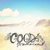 Text good memories — Stock Photo