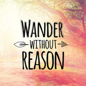 Text wander without reason — Stock Photo