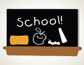 School Black Board — Stock Photo