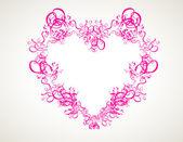 Абстрактный сердце на белом фоне — Cтоковый вектор