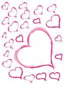 Hand Drawn hearts — Stock Vector