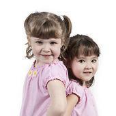 Adorable little twin girls — Stock Photo