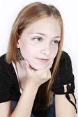 Young Girl in studio posing — Stock Photo
