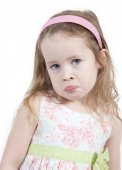 Sad little girl with hairband — Stock Photo