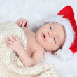 Little baby boy in  Christmas hat — Stock Photo #53161427